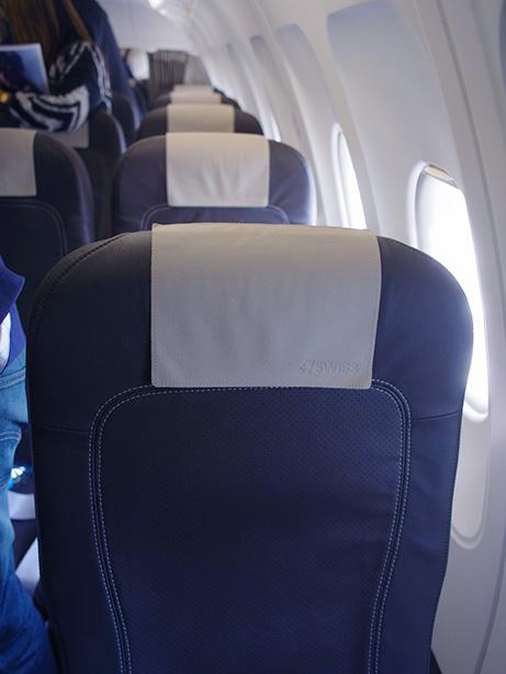 アムステルダムからチューリッヒまで スイス航空 ビジネスクラス