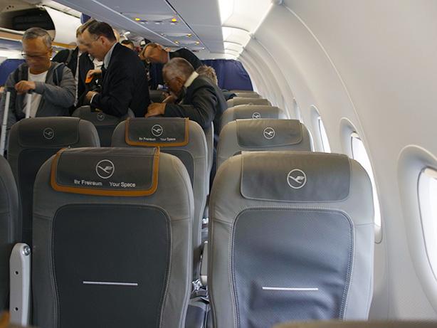 フランクフルトからアムステルダムまで ルフトハンザ航空 ビジネスクラス