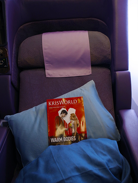 シンガポールからバンコクまで シンガポール航空 ビジネスクラスに搭乗